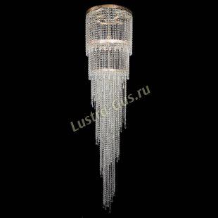 Каскадная люстра высотой от 2 м Милан каскад карандаш