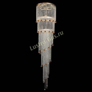 Каскадная люстра высотой от 2 м Люстра Милан каскад шар чайный