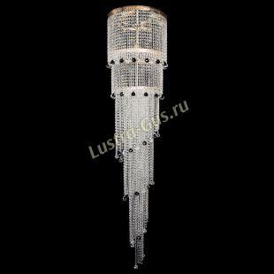 Каскадная люстра высотой от 2 м Люстра Милан каскад шар черный