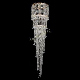 Каскадная люстра высотой от 2 м Люстра Милан каскад