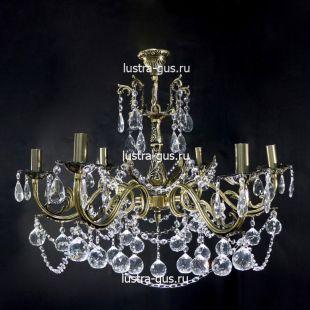 Светильник из бронзы Люстра Анжелика Шар 40 бронзовая