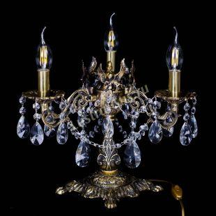 Бронзовая настольная лампа Муза №3 лучик