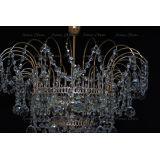 Люстра Акация № 2 - 3 лампы, цвет фурнитуры: золото, Люстры Гусь Хрустальный