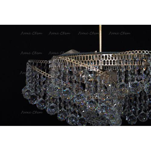 Люстра Космос 3 лампы с подвесом шар Гусь Хрустальный