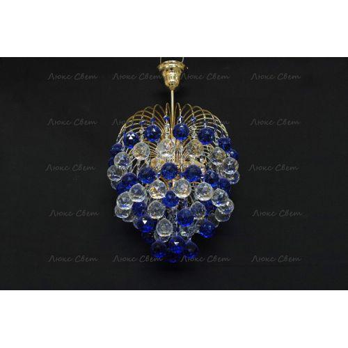 Люстра Хрустальные брызги шар-40 синяя Гусь Хрустальный