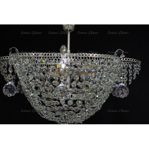 Люстра Ромашка подсолнух подвесная, цвет фурнитуры: серебро Гусь Хрустальный