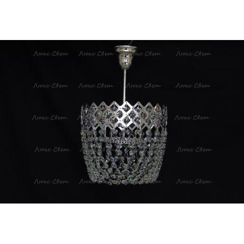Люстра Корона № 4 подвесная, цвет фурнитуры: серебро Гусь Хрустальный