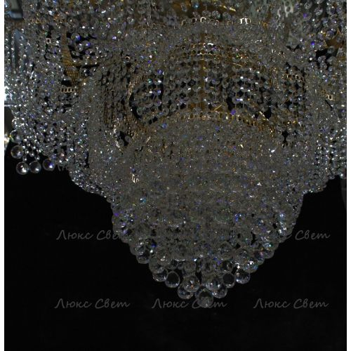 Люстра Лотос с подвесом диаметр 1000 мм высота1500 мм в Воронеже Гусь Хрустальный