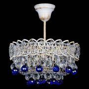 Люстра Астра шар №1 Синяя белая патина