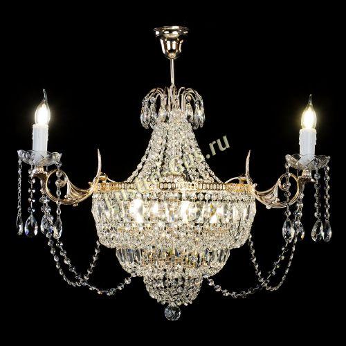 Люстра Элиза, 8 ламп, цвет - золото Гусь Хрустальный