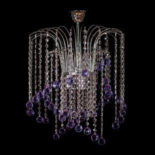 Люстра подвесная Каскад №7 цветной