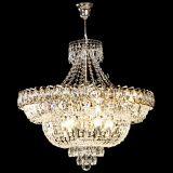 Люстра Хрустальный Каскад №1 с подвесом, диаметр - 600 мм, цвет - золото, Люстры Гусь Хрустальный