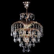Люстра Хрустальные брызги с подвесом журавлик черный