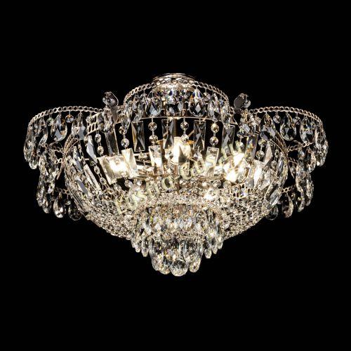 Люстра Камея с подвесом, диаметр 560 мм, золото Гусь Хрустальный