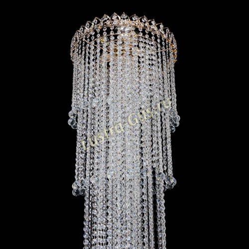 Люстра Капель 5 ламп шар 30 см длинная   в Воронеже Гусь Хрустальный
