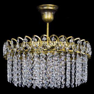 Люстра Хрустальная капель №3 под бронзу