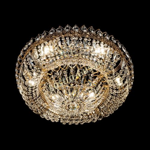 Люстра Кольцо Классика с подвесом, диаметр - 600 мм, цвет - золото Гусь Хрустальный
