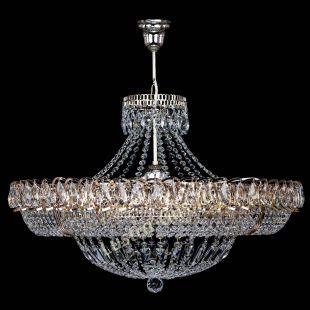 Подвесная хрустальная люстра Люстра Кольцо Классика 6 ламп с подвесом