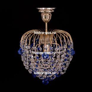 Люстра подвесная Малинка шар синяя