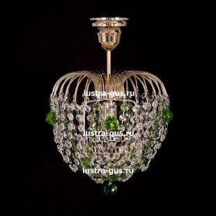 Люстра подвесная Малинка шар зеленая