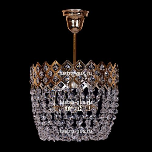 Люстра Корона № 4 подвесная, цвет фурнитуры: золото, Люстры Гусь Хрустальный