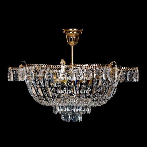 Люстра Ромашка с подвесом, диаметр 560 мм, золото Гусь Хрустальный