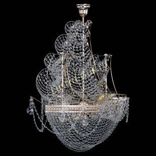 Люстра корабль в хрустале Люстра Парусник №8 Венеция