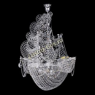 Люстра корабль в хрустале Люстра Парусник №8
