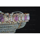 Люстра Кольцо пирамида шар 40 мм фиолетовая в Воронеже