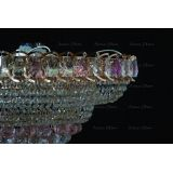 Люстра Кольцо пирамида шар 40 мм розовая в Воронеже