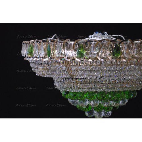 Люстра Кольцо пирамида шар 40 мм зеленая Гусь Хрустальный