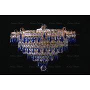 Люстра Ромашка Хризантема синяя карандаш большой