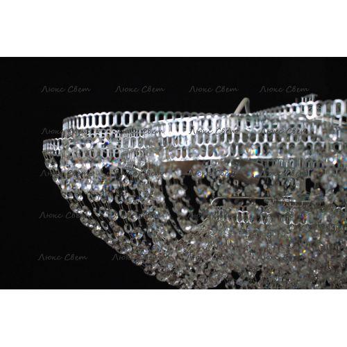 Люстра Лотос Пион, цвет фурнитуры: серебро Гусь Хрустальный
