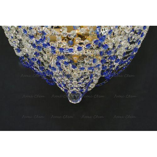 Люстра Водопад Роза синяя Гусь Хрустальный