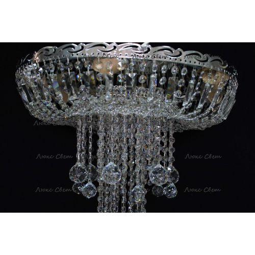 Люстра Анжелика 1 шар 40, цвет фурнитуры: серебро, Люстры Гусь Хрустальный