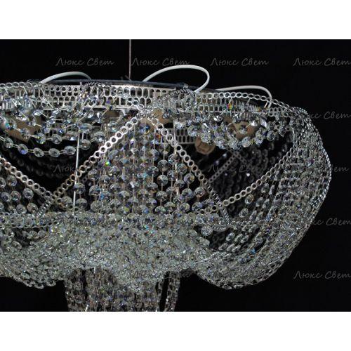 Люстра Галактика 1, цвет фурнитуры: серебро Гусь Хрустальный