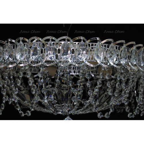 Люстра Люстра Водоворот Ажур, диаметр 450 мм, серебро Гусь Хрустальный