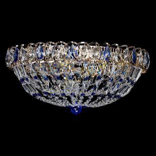 Потолочная люстра из хрусталя Люстра Двойной Купол синий