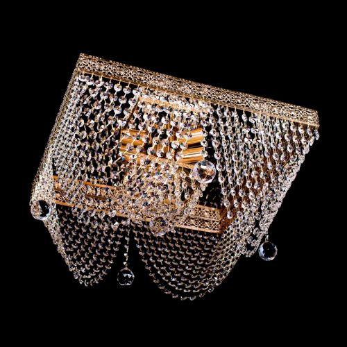 Люстра Квадрат №5, диаметр 400 мм, цвет: золото, Люстры Гусь Хрустальный