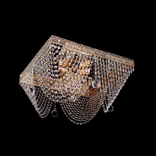 Люстра Квадрат №5, диаметр 400 мм, цвет: золото Гусь Хрустальный