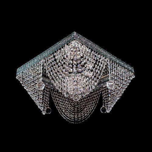Люстра Квадрат №5, диаметр 500 мм, цвет: серебро Гусь Хрустальный