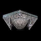 Люстра Квадрат №5, диаметр 500 мм, цвет: серебро, Люстры Гусь Хрустальный