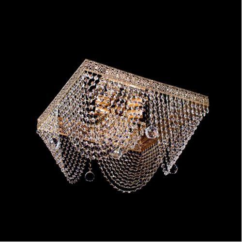 Люстра Квадрат №5, диаметр 500 мм, цвет: золото Гусь Хрустальный