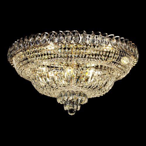 Люстра Хрустальный Каскад №1, диаметр - 700 мм, цвет - золото Гусь Хрустальный
