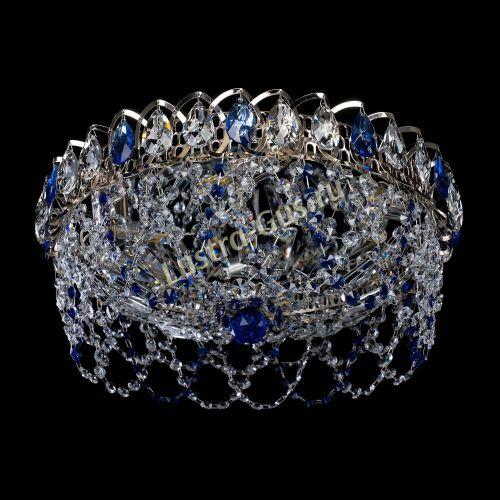 Люстра Хрустальный Каскад Ажур синий, диаметр - 450 мм, Люстры Гусь Хрустальный