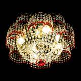 Люстра Камелия №1 красная, диаметр - 500 мм, Люстры Гусь Хрустальный