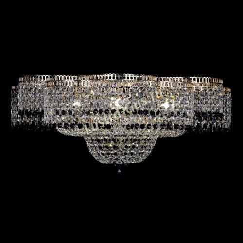 Люстра Камелия №1 черная, диаметр - 600 мм Гусь Хрустальный