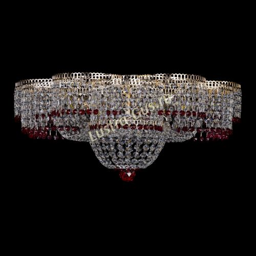 Люстра Камелия №1 красная, диаметр - 600 мм, Люстры Гусь Хрустальный