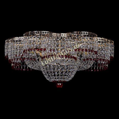 Люстра Камелия №1 красная, диаметр - 600 мм Гусь Хрустальный