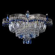 Люстра Камея №1 - 3 лампы синяя